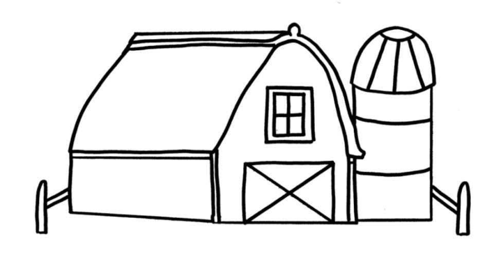 barn coloring pages for kids - photo#1