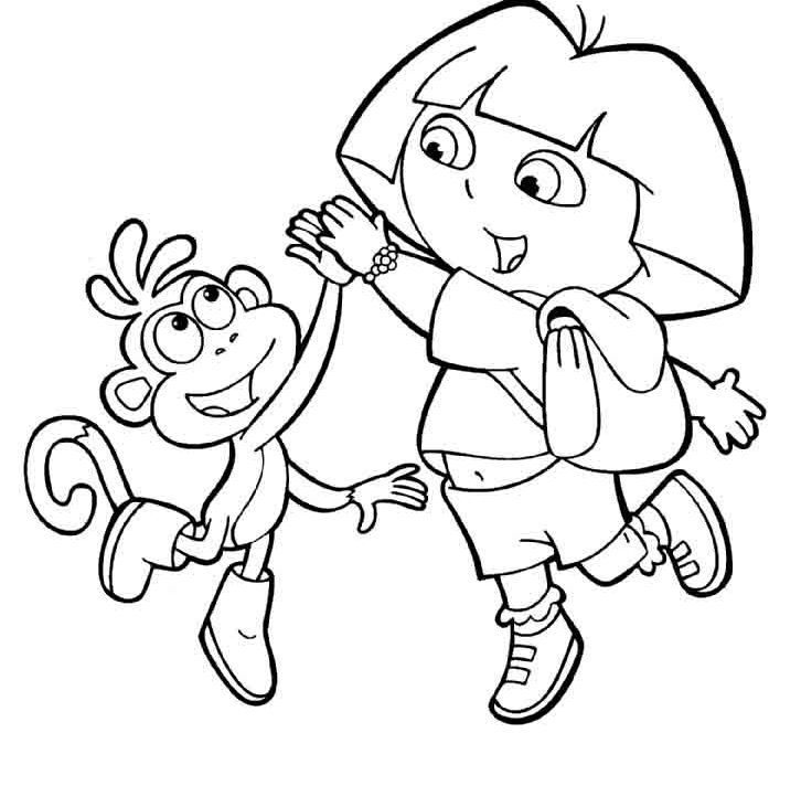 dora coloring online pages free - photo#25
