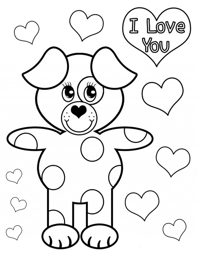 cute coloring pages of baby puppies cute puppy love coloring page