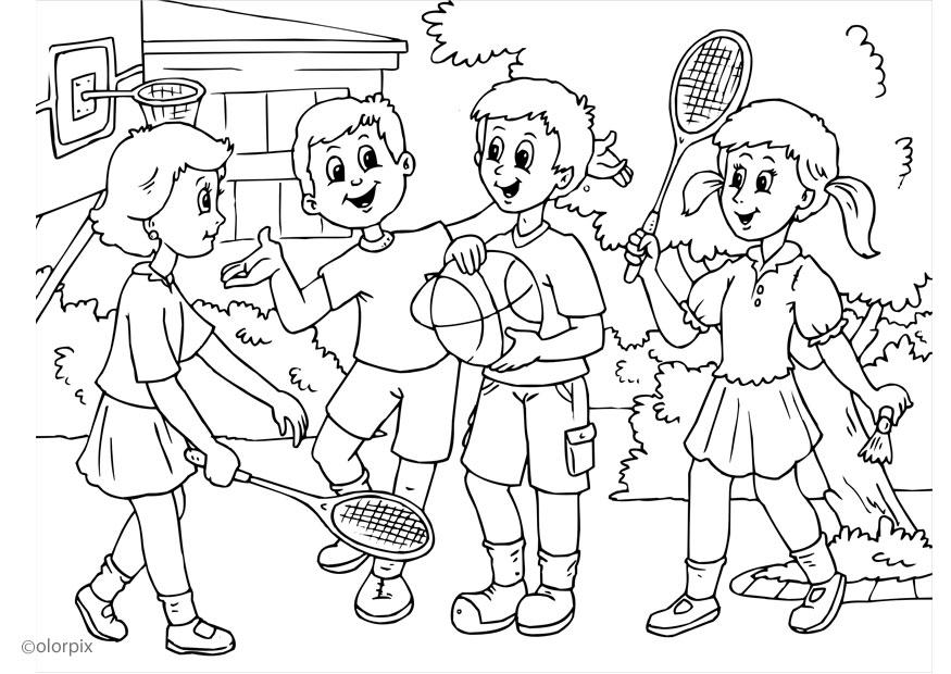 Friendship Coloring Page  Coloring Home