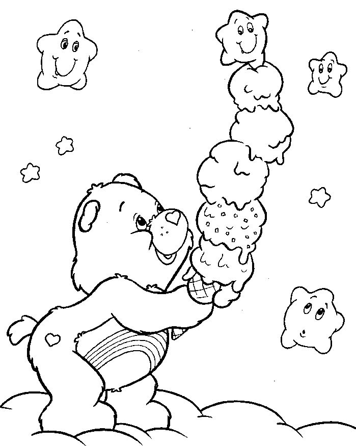 love care bear coloring pages - photo#5