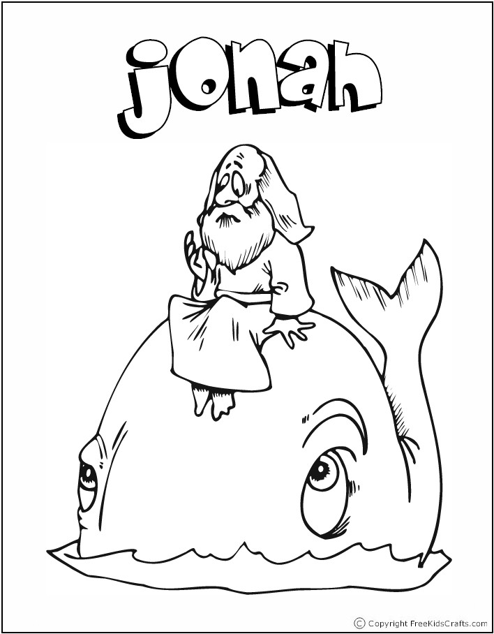 bible coloring pages jonah - photo#7