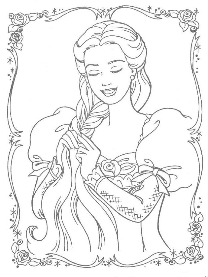 Barbie Rapunzel Coloring Pages Games : Barbie rapunzel coloring pages az