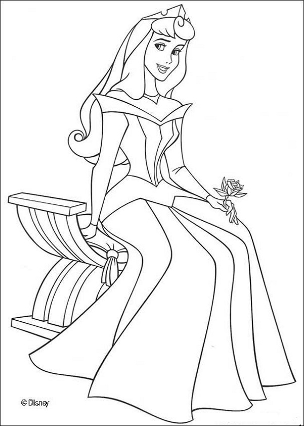 easy princess coloring pages - photo#23