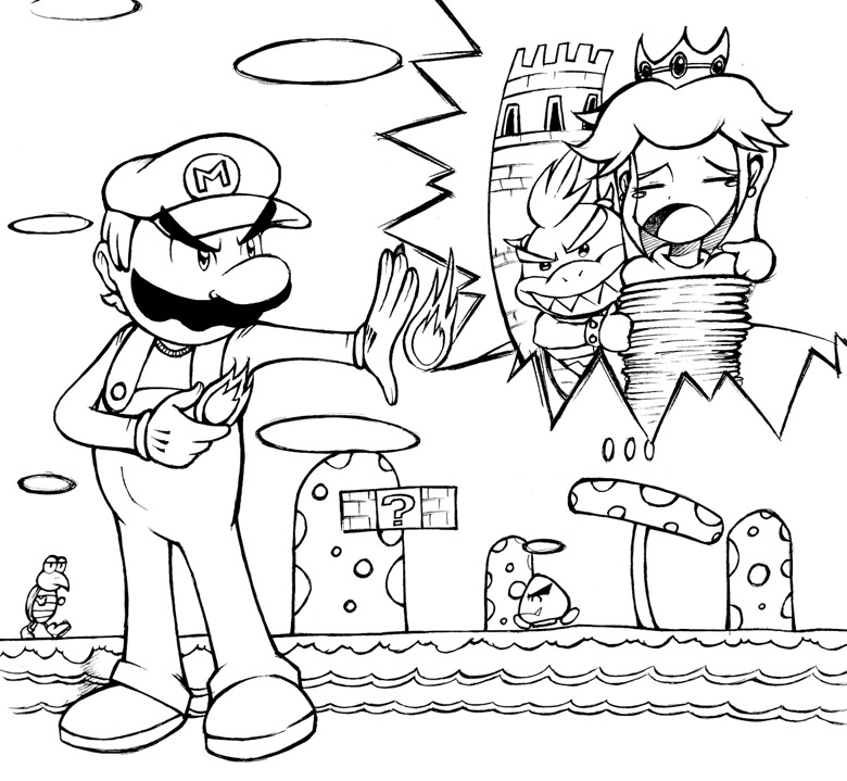 super mario soccer coloring pages - photo#16