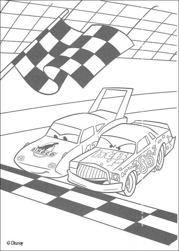 Race track coloring cake ideas and designs coloring home for Track coloring pages