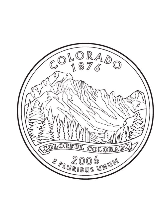 colorado state seal coloring pages - photo#9