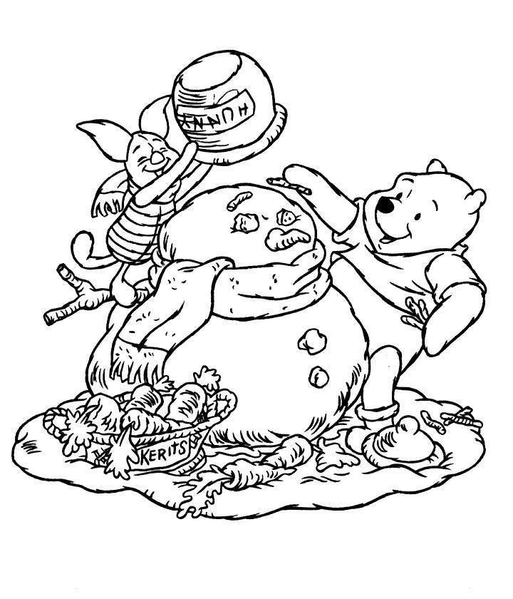 Winnie The Pooh And Piglet Coloring Pages - Coloring Home