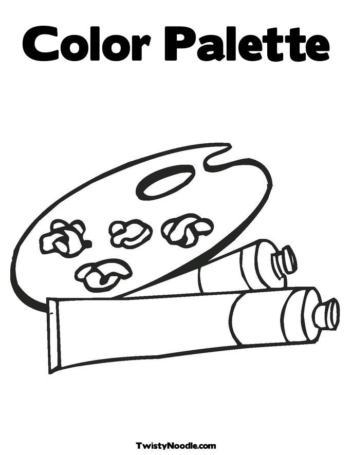 paint brush coloring pages - photo#48