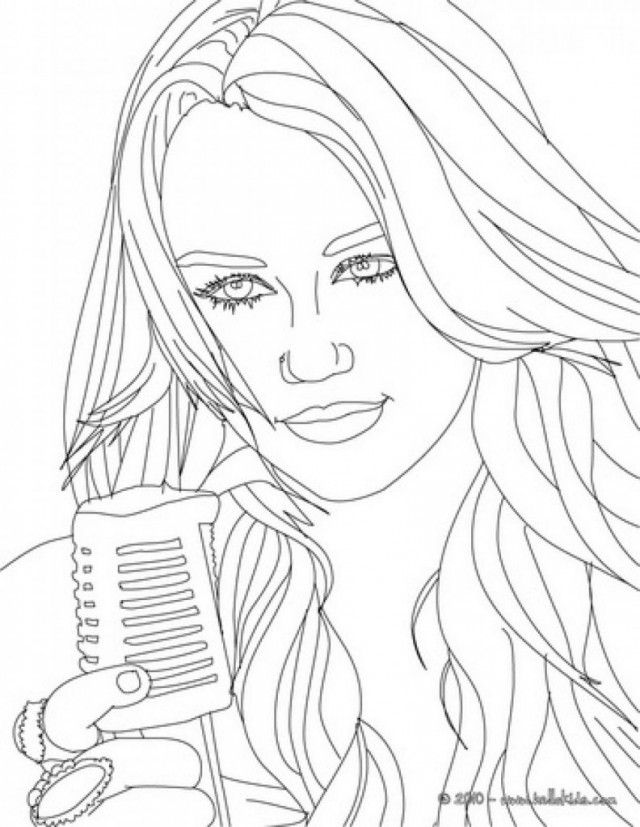 hannah montana coloring pages to print out