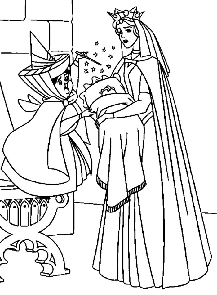 Princess Aurora Baby Coloring Pages Sailormoon Coloring Pages
