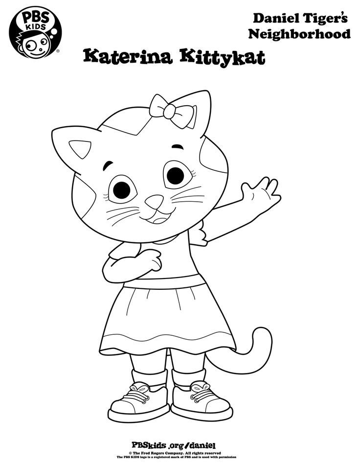Daniel Tiger Coloring Pages Katerina - Coloring Home