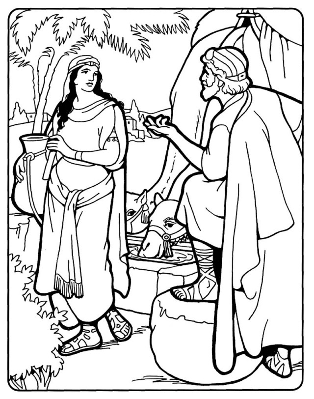 Images For Gt Isaac And Rebekah Coloring Pages 262165 Jacob And