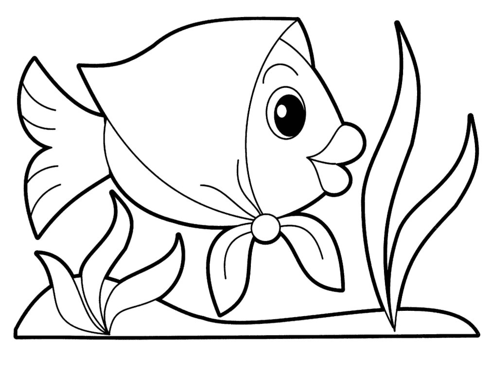 Cartoon fish coloring pages az coloring pages for Color pages of fish