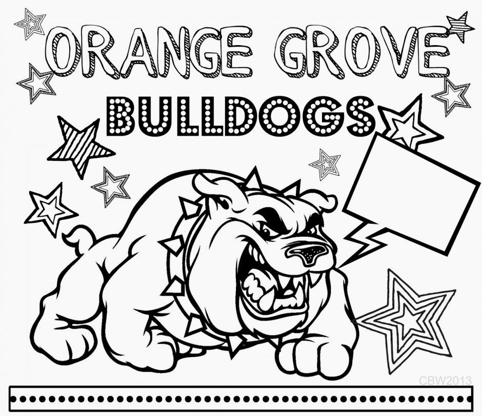 Georgia Bulldogs Logo Coloring Coloring Pages