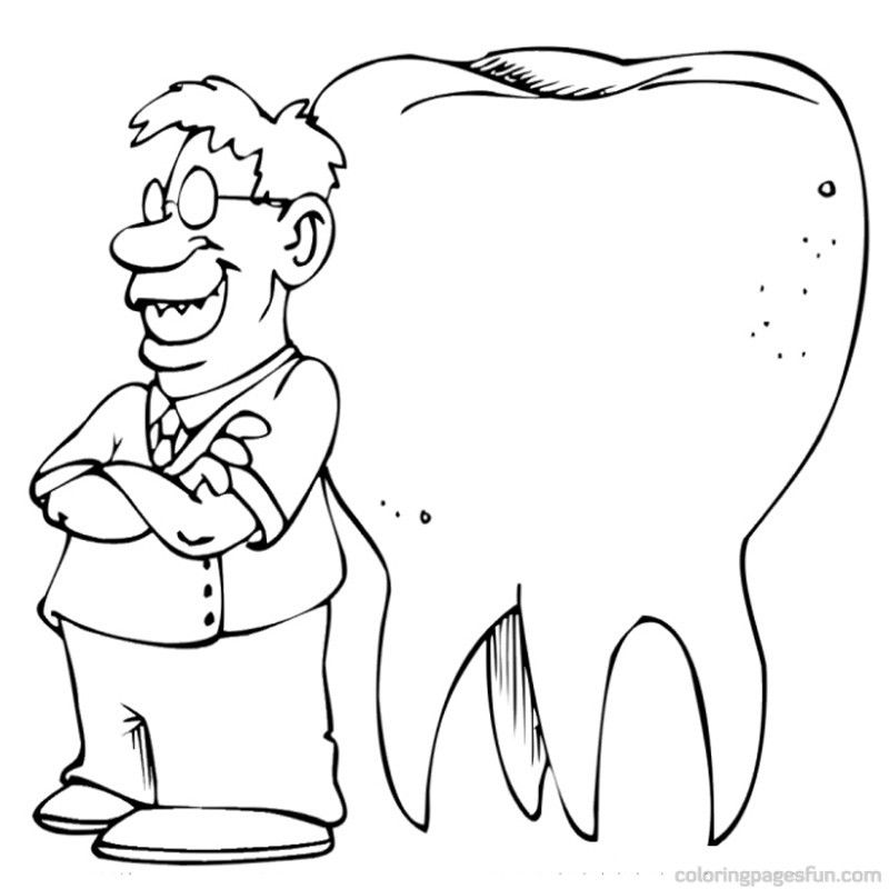 Healthy Teeth Coloring Pages Coloring Home Healthy Teeth Coloring Pages