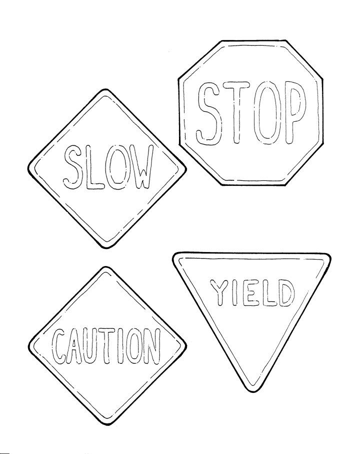 Railroad Safety Signs Coloring SheetsSafetyPrintable Coloring
