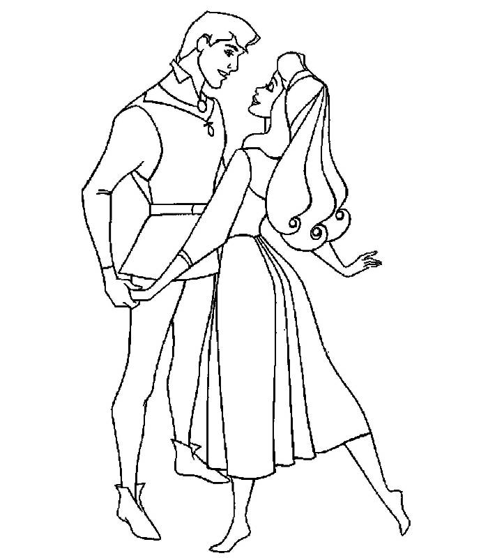 Coloring pages the sleeping beauty - picture 11