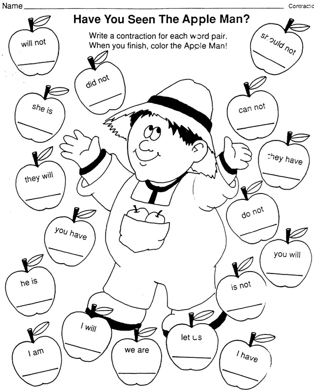 Johnny Appleseed Worksheets | Free Internet Pictures