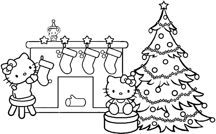 hello kitty holiday coloring pages - photo#17