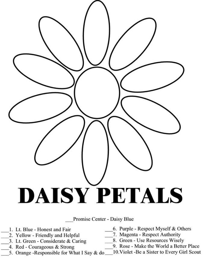 daisy petals meaning coloring pages - photo#1