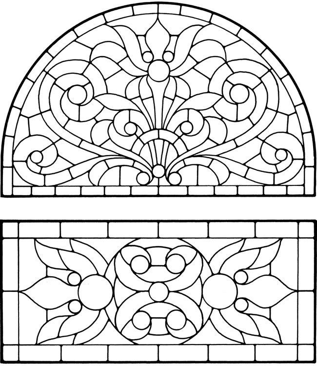Stained glass window coloring pages coloring home for Window design template