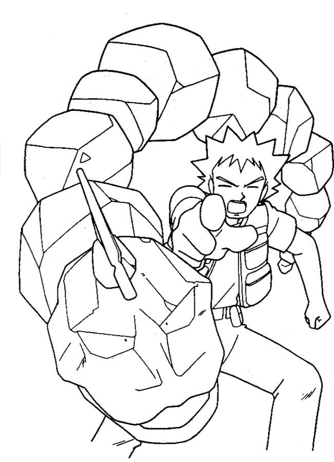 ash misty coloring pages - photo#23
