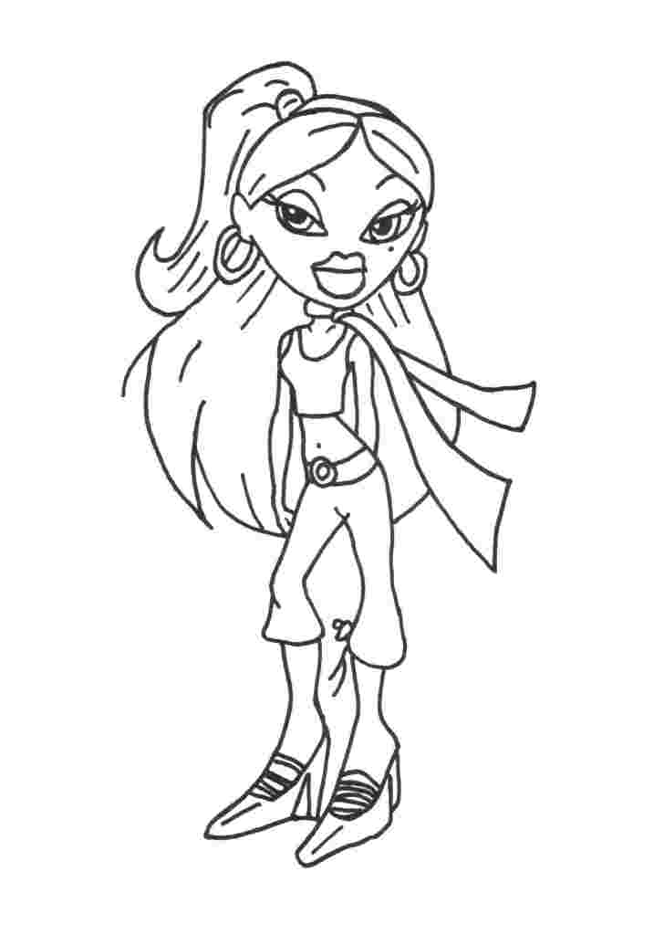 free brat dolls coloring pages - photo#22