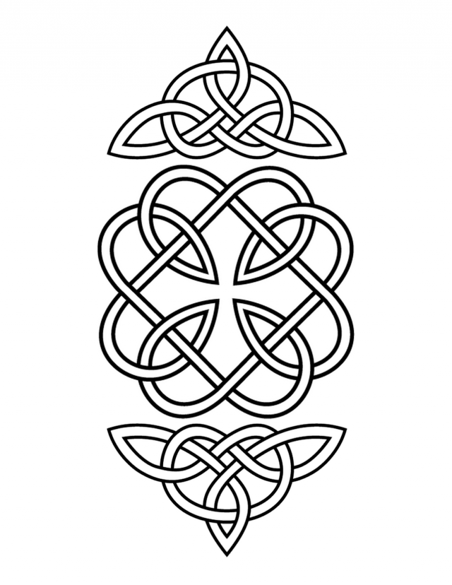 Celtic mandala coloring pages coloring home for Celtic coloring page