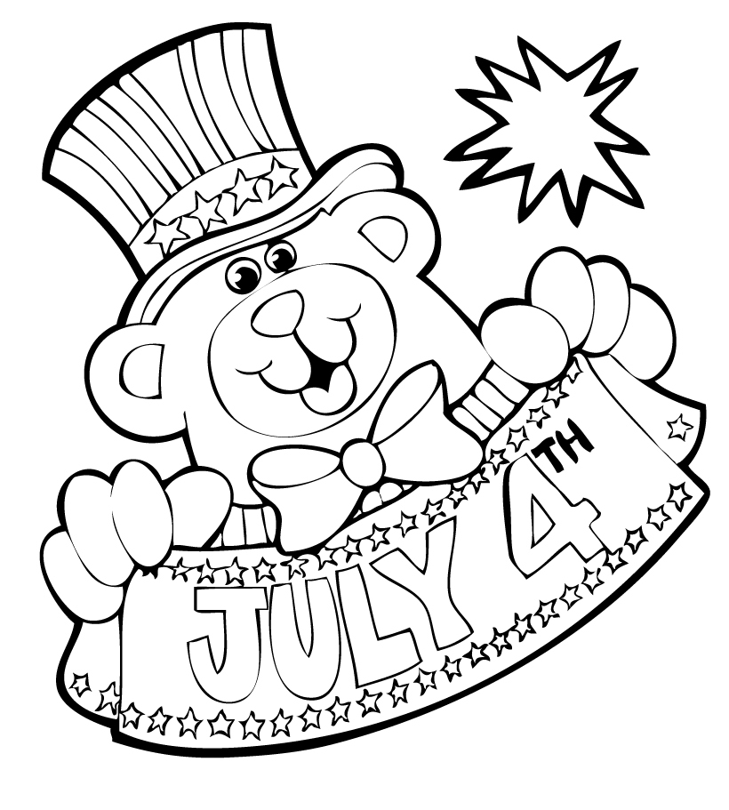 4th of July Coloring Pages Free Printable Download | Coloring