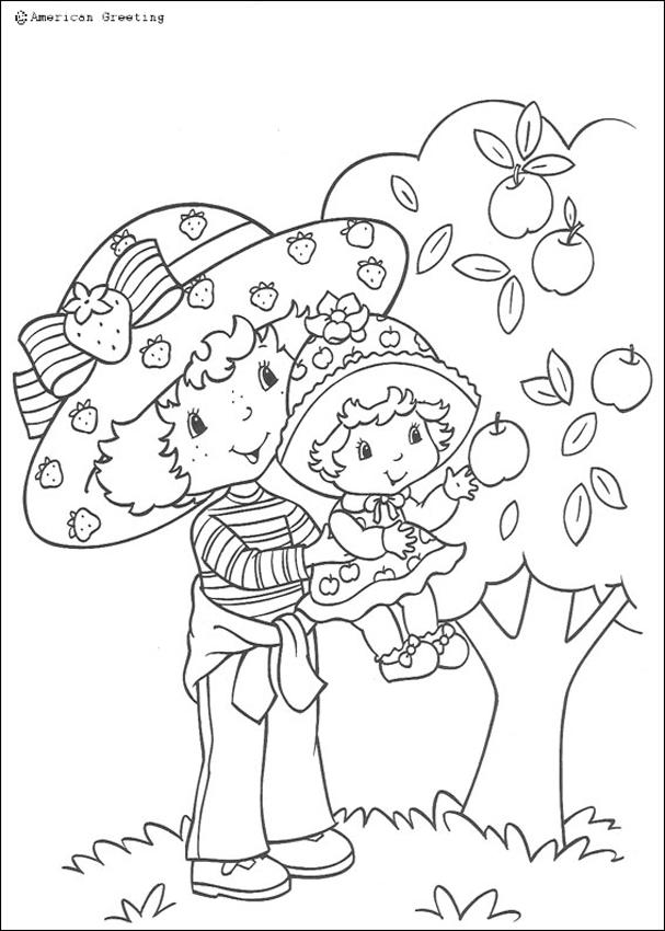 strawberry shortcake coloring pages strawberry shortcake and big sister