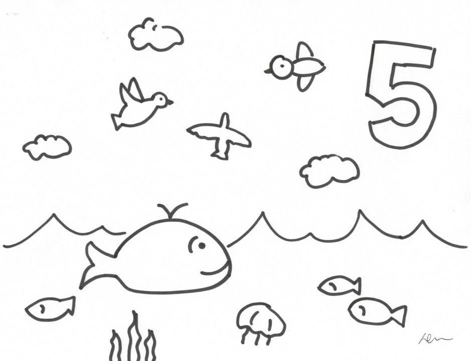 God Created The World Coloring Page : Creation DAY 5 God ...