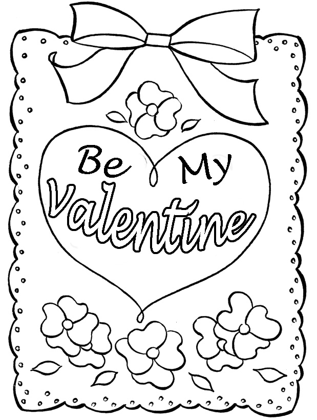 valentines day cards coloring pages - photo#10