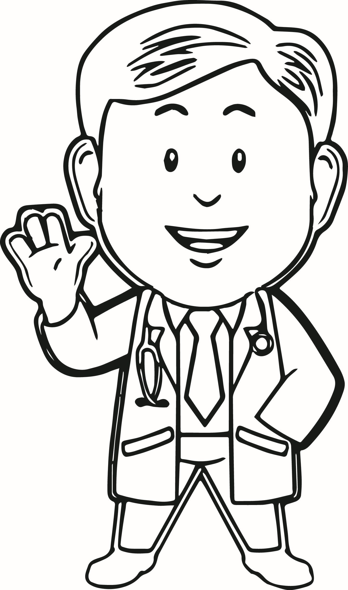 Doctor Coloring Pages For Kids