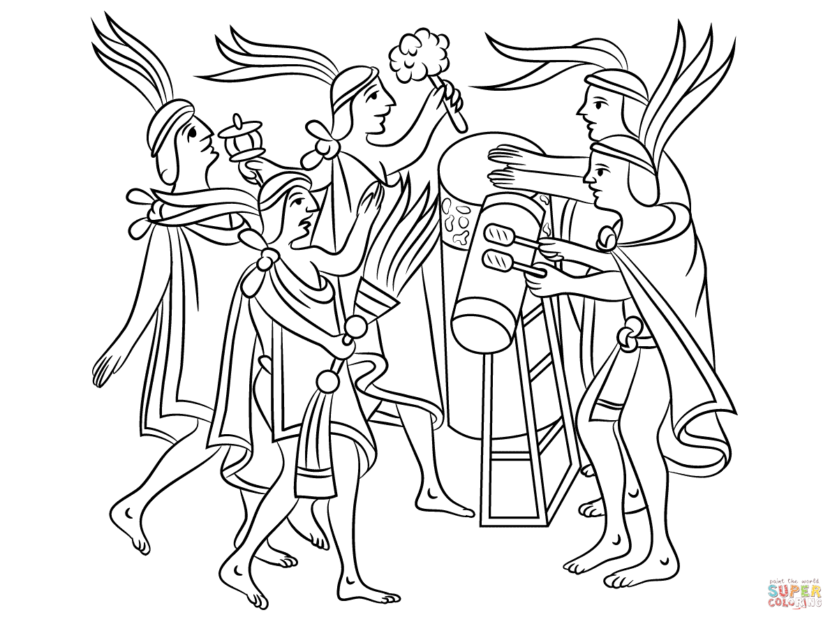 Aztec Coloring Pages Pdf : Aztec art coloring pages free home