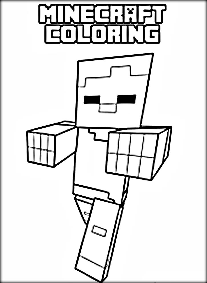 cool minecraft coloring pages steve - Minecraft Printable Coloring Pages