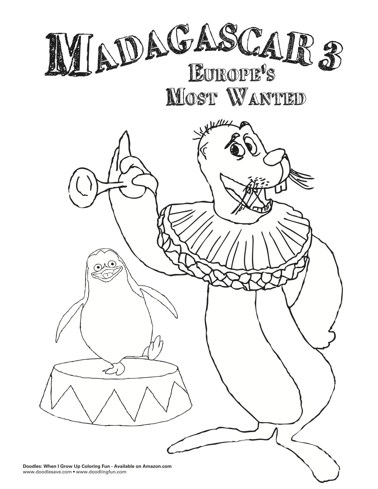 Madagascar 3 Coloring Pages - Coloring Home