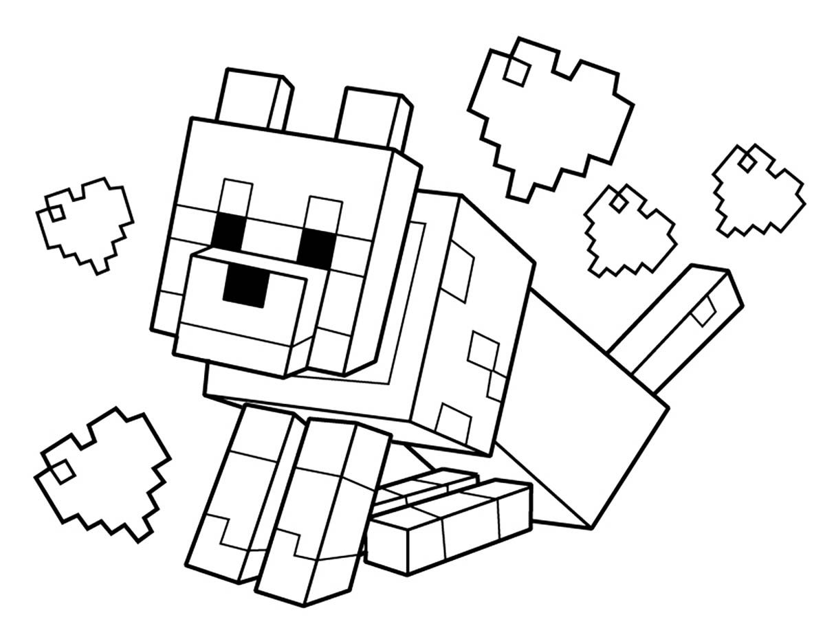 minecraft print out coloring pages - photo#3