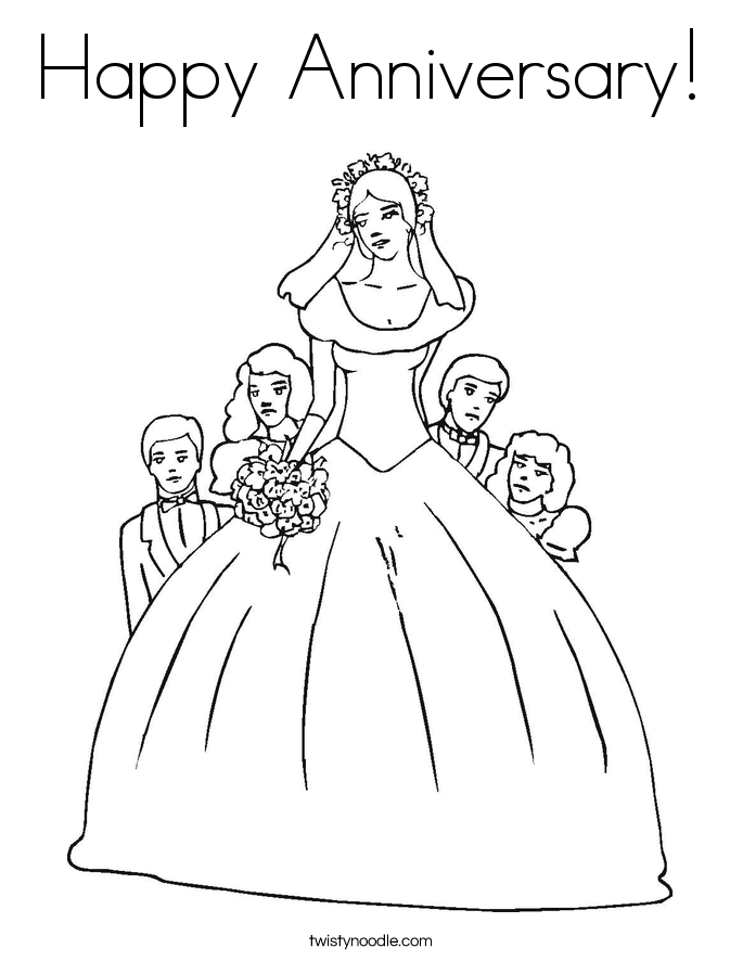 It's just a picture of Ridiculous Happy Anniversary Coloring Page