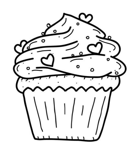 Free Cupcake Coloring Pages Coloring Home