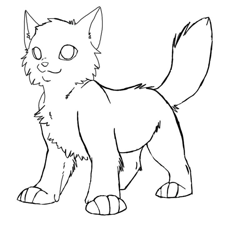 Awesome looking Warrior Cats printable online coloring pages for ...