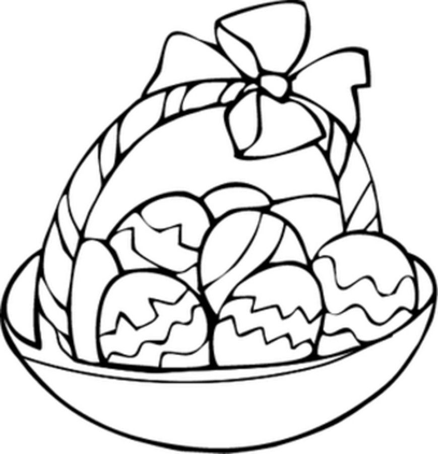 Easter Egg Basket Coloring Pages - Coloring Home