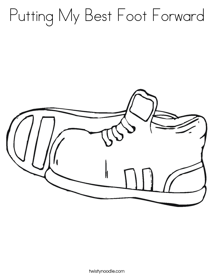 feet free coloring pages - photo#23