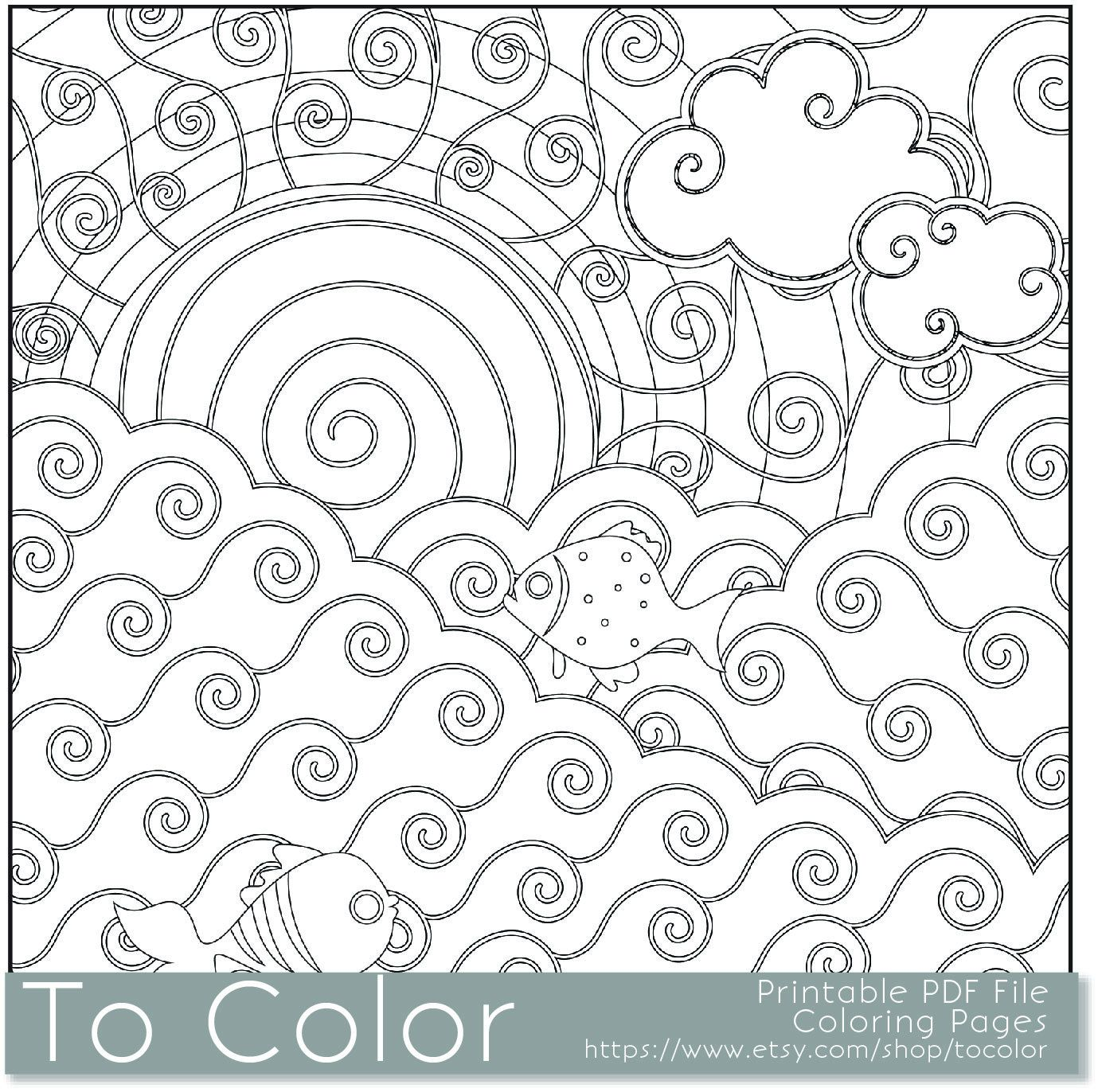 Items Similar To Printable Coloring Page For Adults And Kids PDF