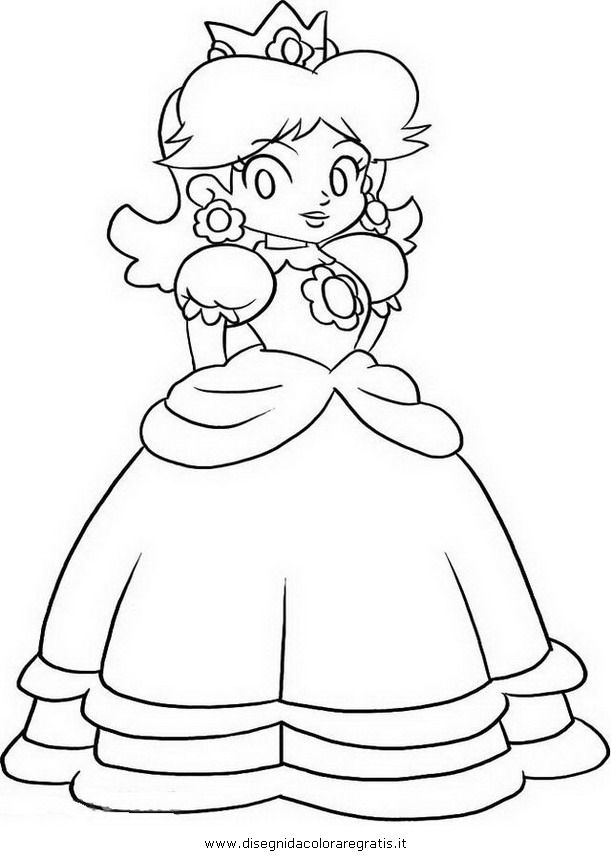 Mario And Daisy - Coloring Pages for Kids and for Adults