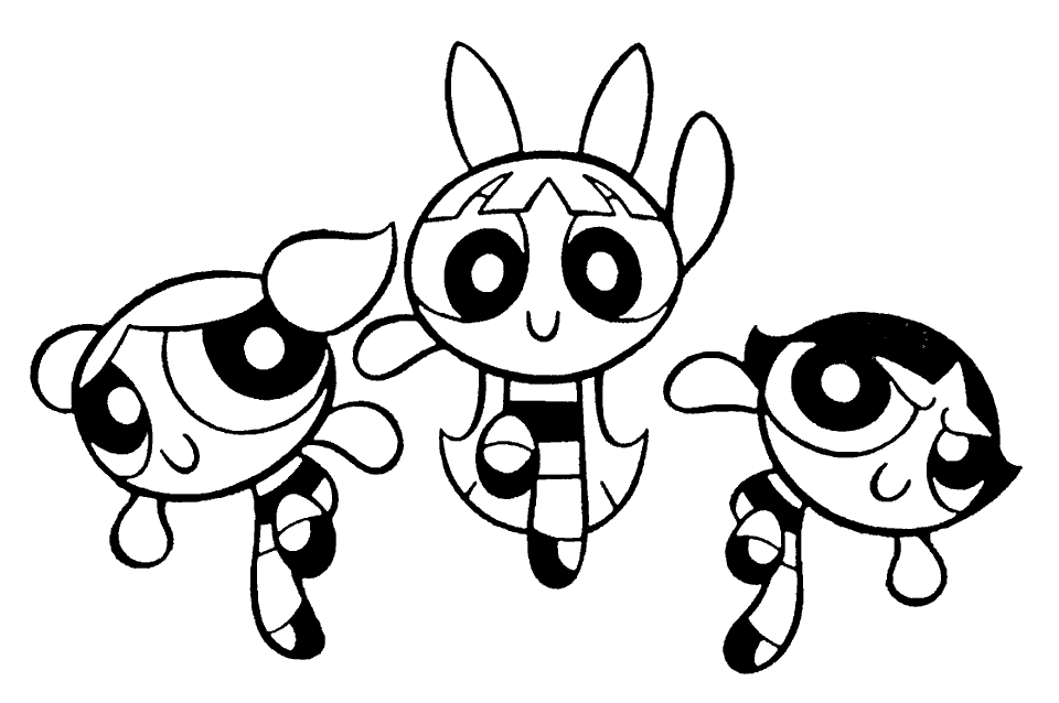 powerpuff girls coloring pages for kids free printable coloring - Cartoon Coloring Pages Printables