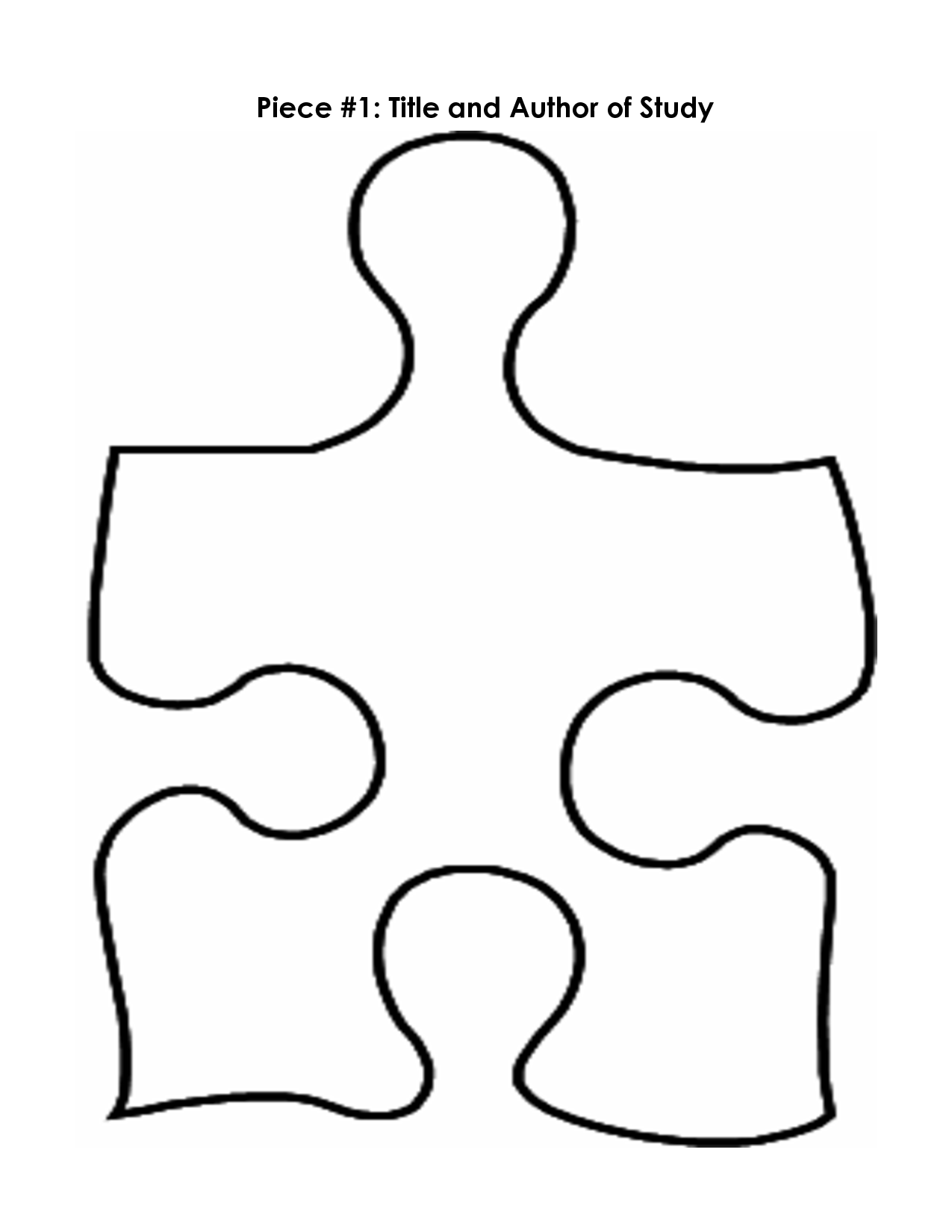 puzzle piece outline coloring pages - photo#8