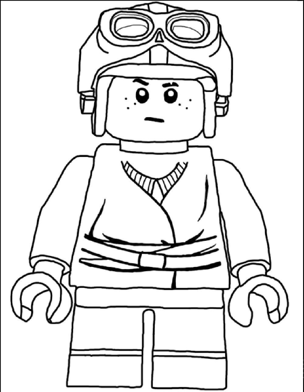 Lego luke skywalker coloring coloring pages for Lego luke skywalker coloring pages