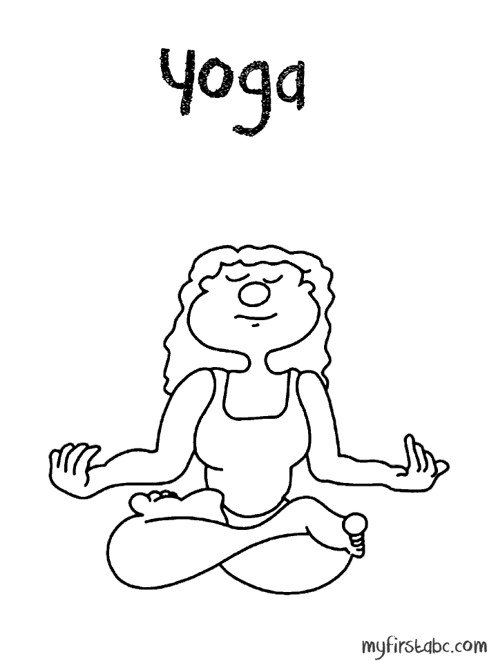 yoga coloring pages for kids - photo#14