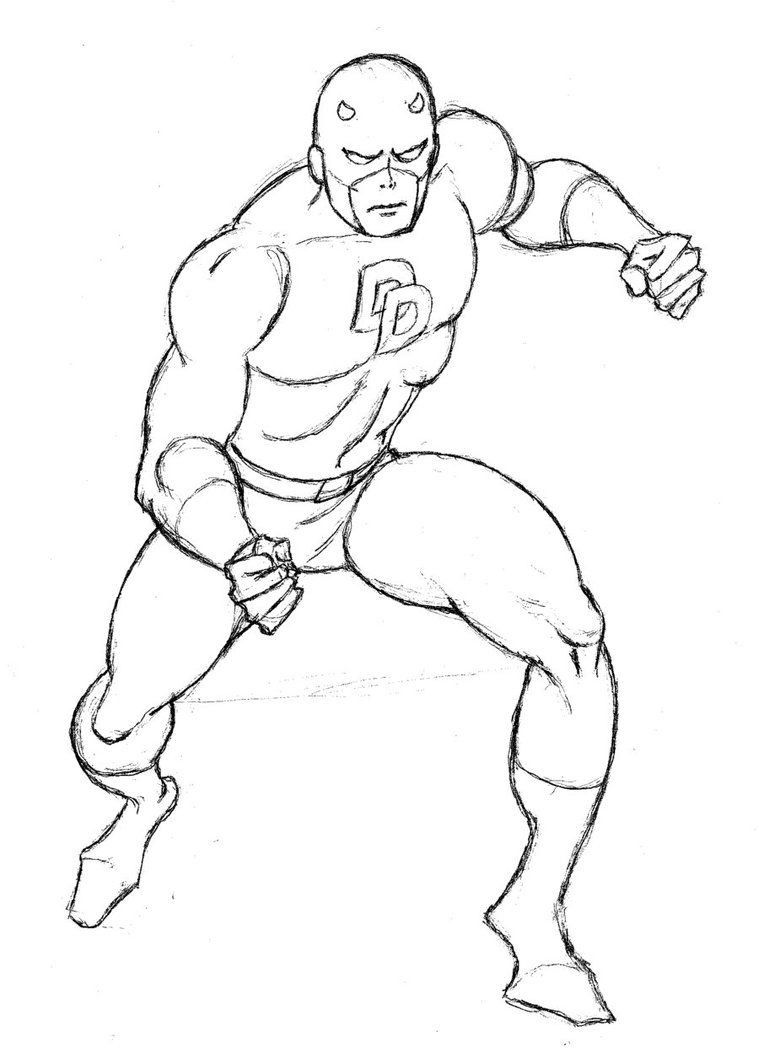 free printable daredevil coloring pages - photo#2